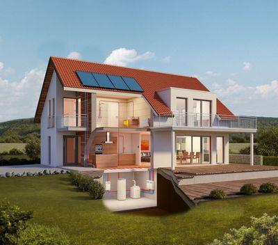 Solar-Oel-Brennwertsystem